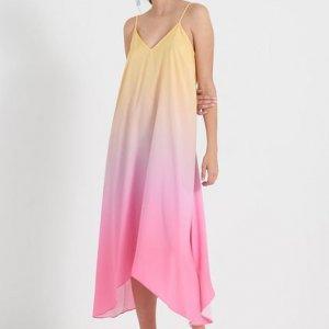 Vestido Midi Alcinha Liso Estampa Degradê