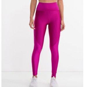 Calça Legging Esportiva Texturizada com Recortes