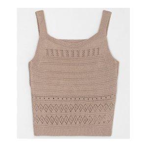 Blusa Cropped em Tricô com Detalhes Vazados