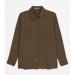 Camisa com Bolsos e Botões Curve & Plus Size