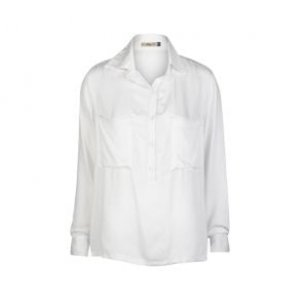 Camisa Feminina Alongada Off Whte Tamanho M