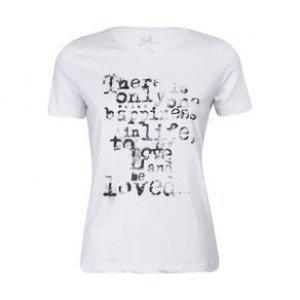 Camiseta Feminina Happiness Branco Tamanho M