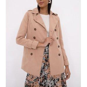 Casaco Trench Coat Liso com Cinto