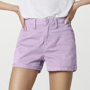 Shorts Feminino Em Sarja Cintura Alta
