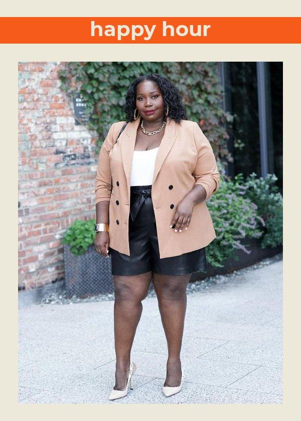 Alissa Stylish Curves - blazer no verão - looks com blazer - verão - street style - https://stealthelook.com.br