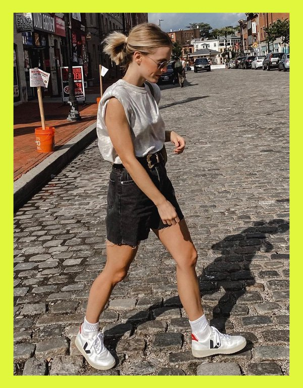 Bailey McCall - tênis casual - vert veja shoes - verão - street style - https://stealthelook.com.br