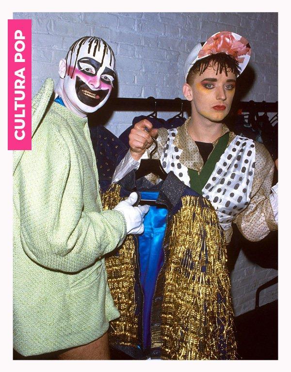 Leigh Bowery, Boy George - anos 80 - moda anos 80 - verão - street style - https://stealthelook.com.br