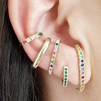 Mix de Brinco Ear Hook Colorido