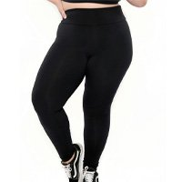 Sporting Way Fitness - Calça Legging Supplex® Plus Size Básica Preto