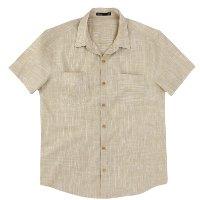 Camisa Básica Masculina Mangas Curtas - Ocre
