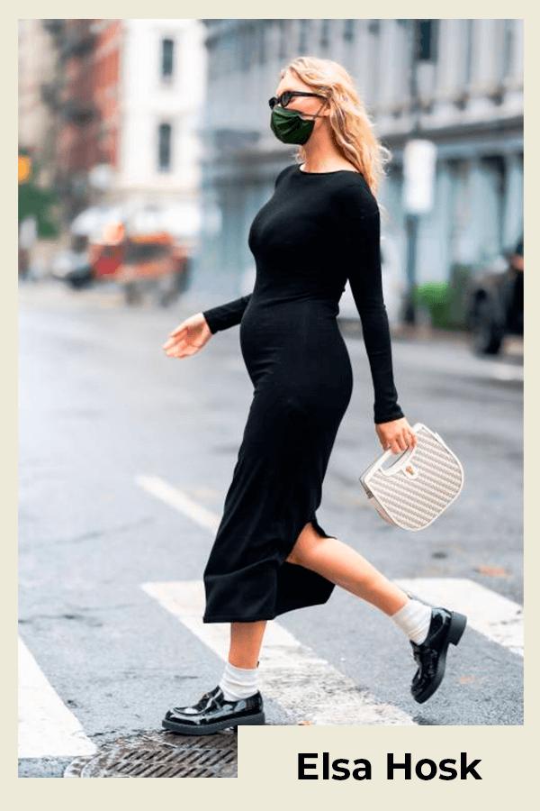 Elsa Hosk - vestido - grávida - verão - street style  - https://stealthelook.com.br