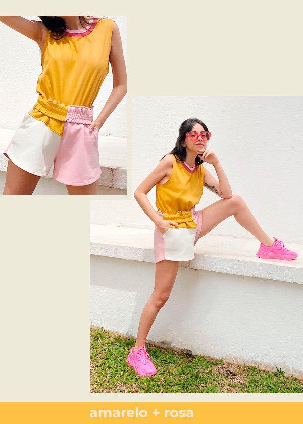 Giovana Marçon - camiseta-e-short - colorblock - verão - em-casa - https://stealthelook.com.br