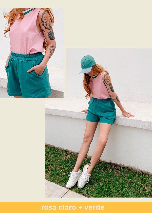 Aline Santos - camiseta-e-short - colorblock - verão - em-casa - https://stealthelook.com.br