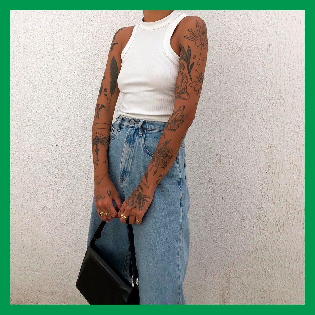 Luciane Sakon - Tatuagem - Como cuidar  - Primavera - Street Style - https://stealthelook.com.br