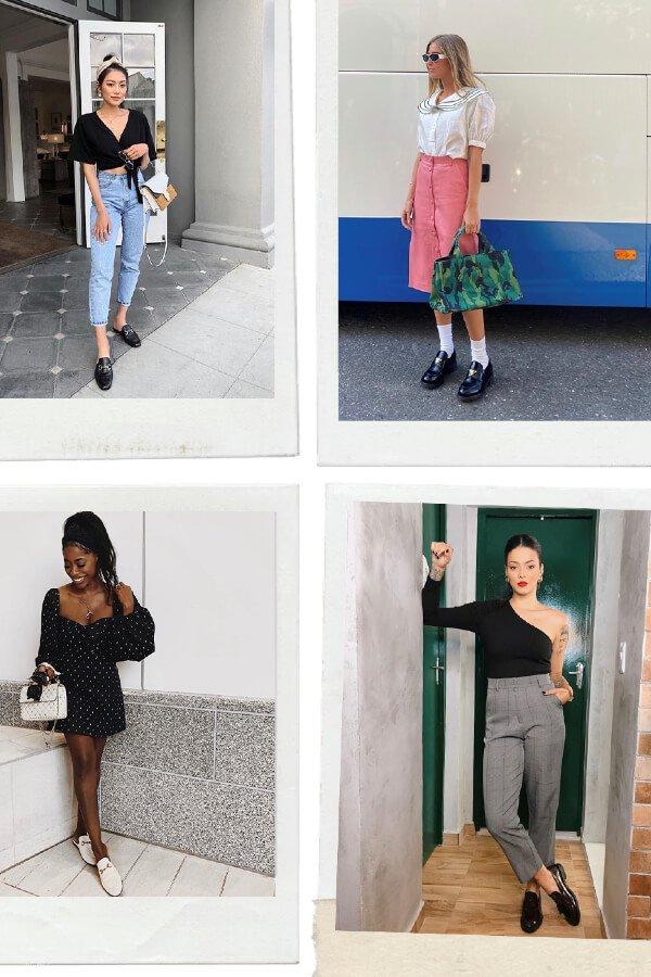 Emili Sindlev, Jenee', Nathalie Barros, Pinterest - Social - mocassim - verão - street style  - https://stealthelook.com.br