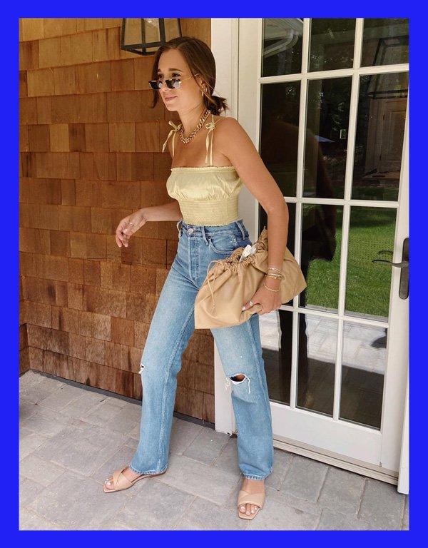 Danielle Bernstein - modelo de calça - calça reta - verão - street style - https://stealthelook.com.br