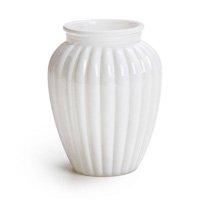 Vaso decorativo Oval Branco 13 x 10 cm Decoração