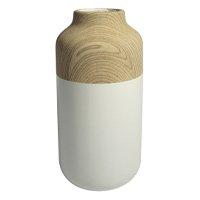 Vaso de Cerâmica Chuck Foebe - Branco e Bege