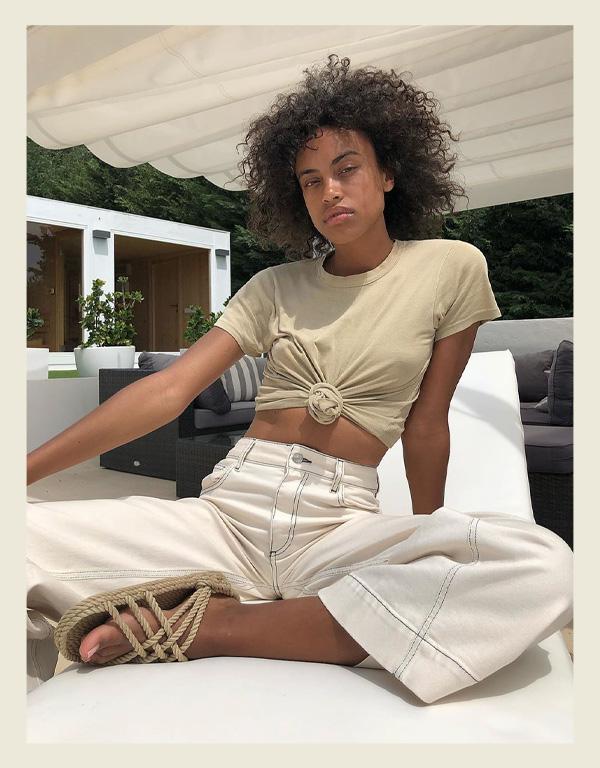 Hanna Lhoumeau - modelo de sandália do verão - sandália de corda rope sandal - verão - street style - https://stealthelook.com.br