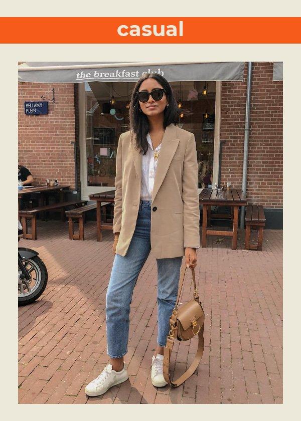 Hannah Desai  - blazer no verão - looks com blazer - verão - street style - https://stealthelook.com.br