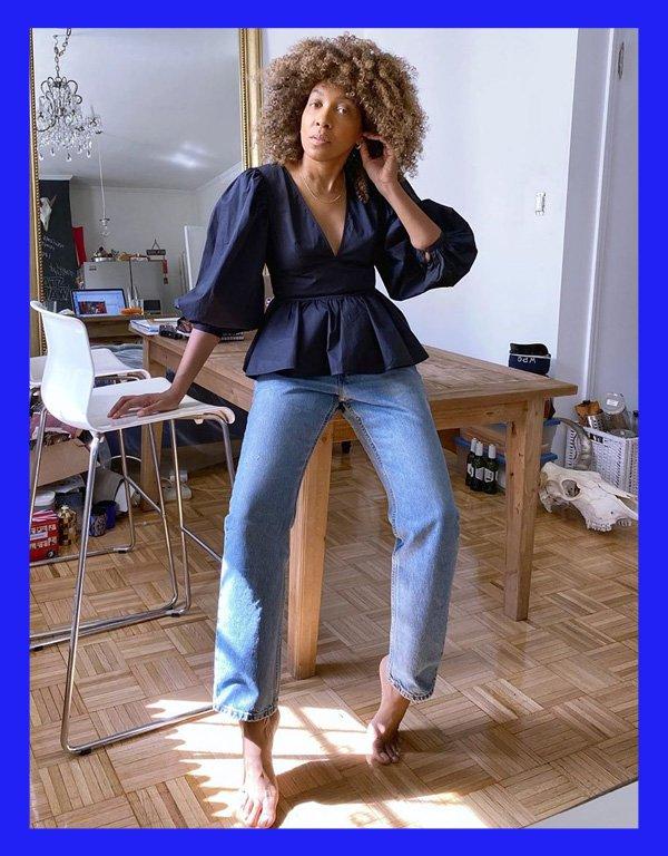 Karen Blanchard - modelo de calça - calça reta - verão - street style - https://stealthelook.com.br