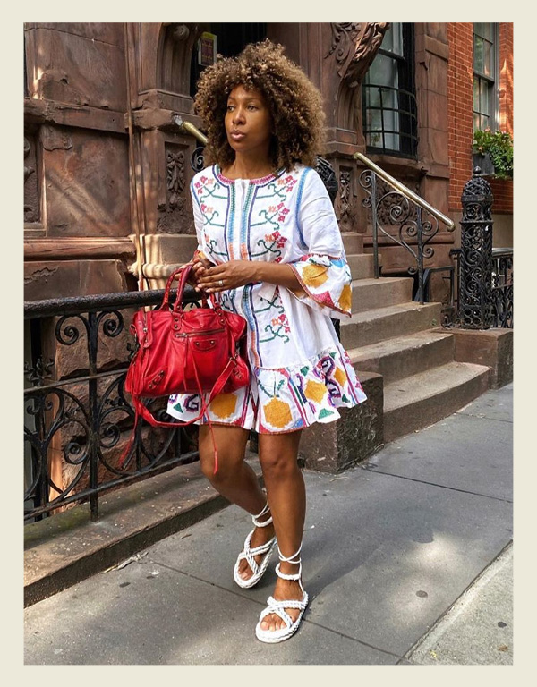 Karen Blanchard - modelo de sandália do verão - sandália de corda rope sandal - verão - street style - https://stealthelook.com.br