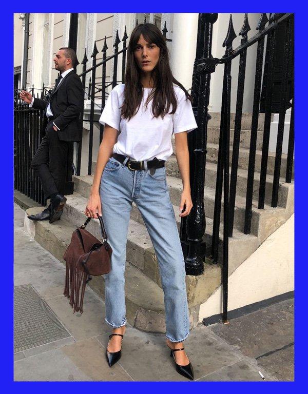 Leia Sfez - modelo de calça - calça  reta - verão - street style - https://stealthelook.com.br