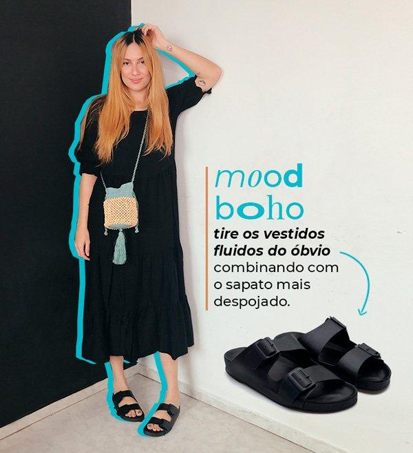 Aline Santos - vestido-preto - papete - verão - em-casa - https://stealthelook.com.br