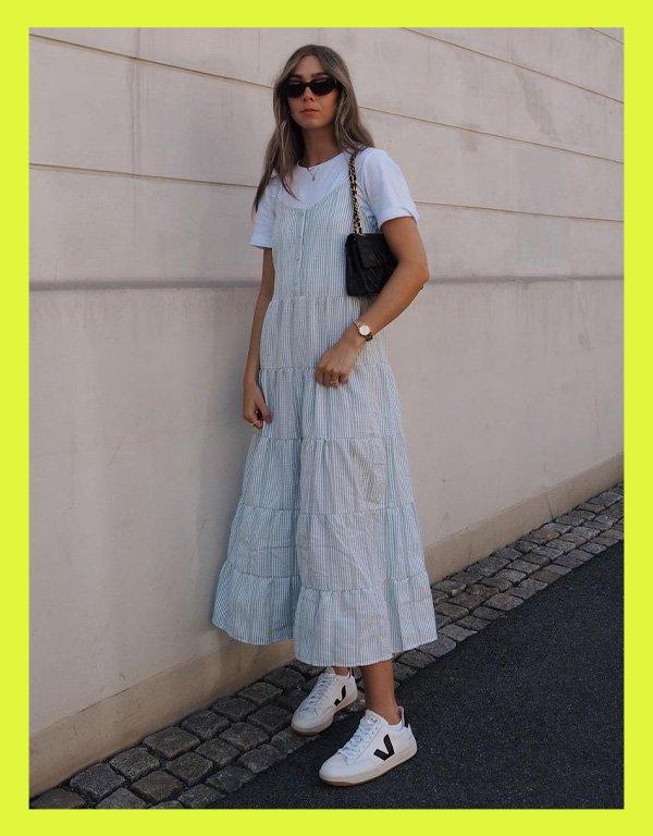 Stine Skogsrud - tênis casual - vert veja shoes - verão - street style - https://stealthelook.com.br