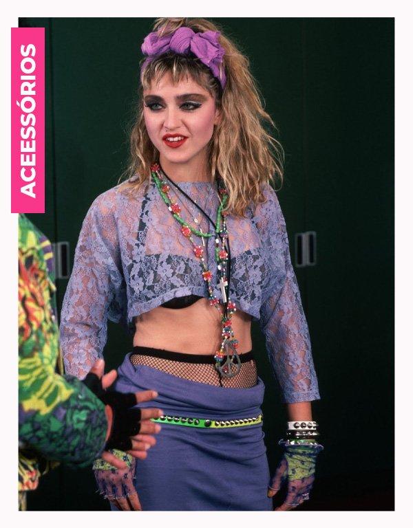 Madonna - anos 80 - moda anos 80 - verão - street style - https://stealthelook.com.br