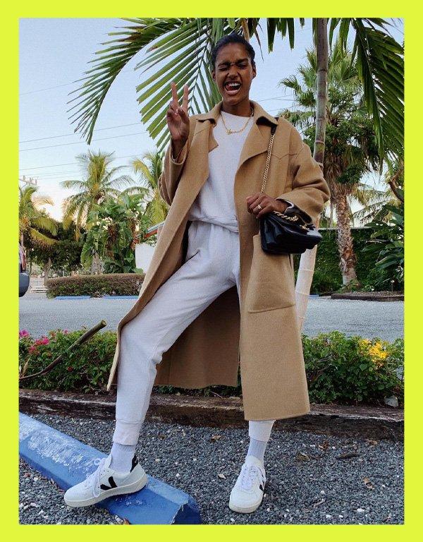 Nádia Araújo - tênis casual - vert veja shoes - verão - street style - https://stealthelook.com.br