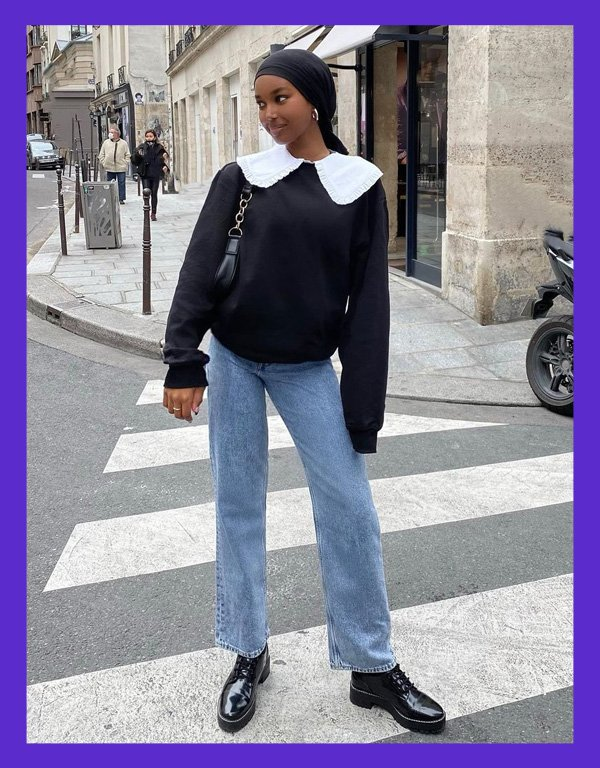 Najma Ahmed - big collar - gola oversized ganni chanel - verão - street style - https://stealthelook.com.br