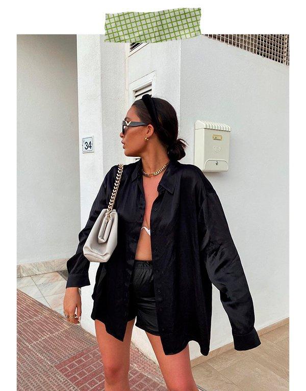 It girls - Short - Bermuda de sarja - Primavera - Street Style - https://stealthelook.com.br