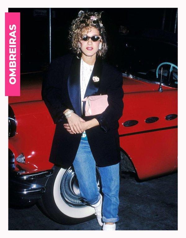 Sarah Jessica Parker  - anos 80 - moda anos 80 - verão - street style - https://stealthelook.com.br