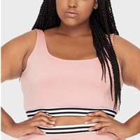 Top com Elástico Liso Plus Size