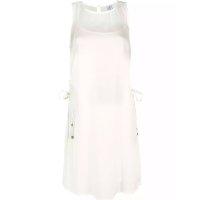 Vestido Curto Básico Com Amarração Nas Laterais - Off White