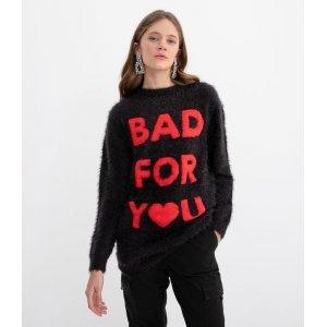 Suéter Liso Estampa Bad For You