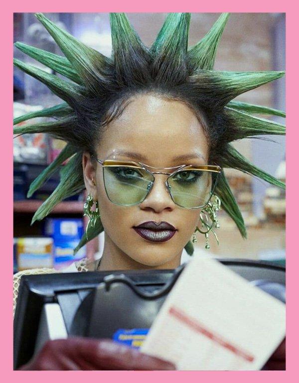 Rihanna - maquiagem - Isamaya Ffrench - inverno - street style - https://stealthelook.com.br