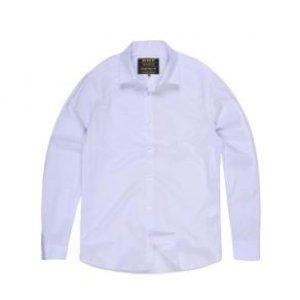 Camisa Masculina Tricoline Lisa Branco Tamanho M