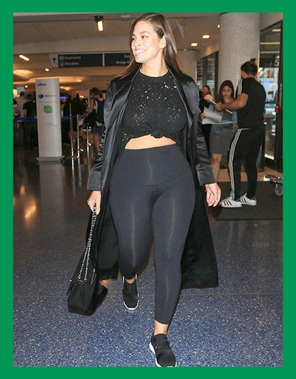 Ashley Graham - calça legging - calça confortável - verão - street style - https://stealthelook.com.br