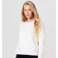 Blusão Feminino Em Tricô De Algodão Texturizado - Off White