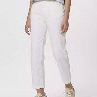 Calça Básica Feminina Em Sarja - Branco