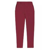 Calça Feminina Modelagem Reta Com Elastano - Vermelho