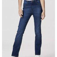 Calça Jeans Feminina Modelagem Reta Com Elastano - Azul