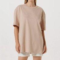 Camiseta Unissex Com Bordado Smiley® - Bege