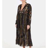 vestido lurex colorido bordado