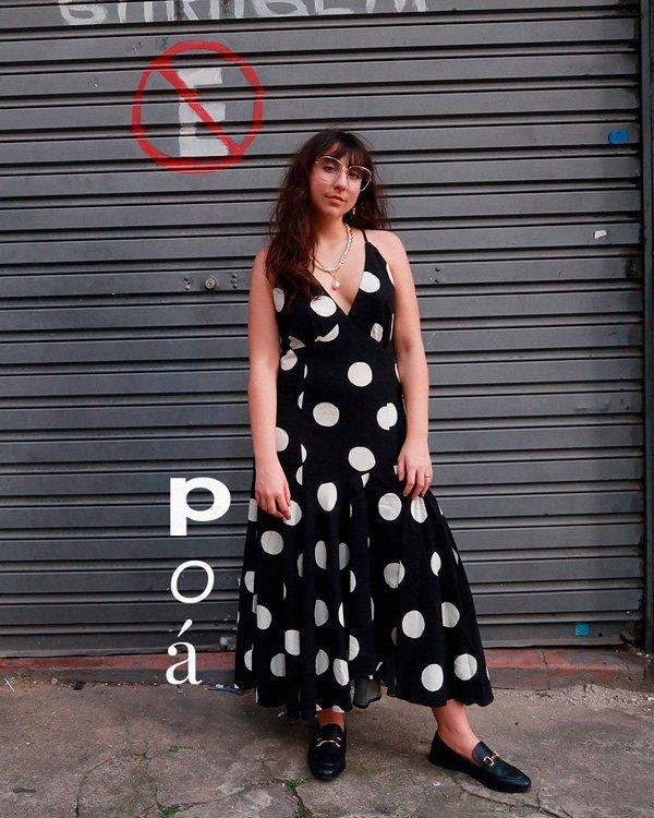 Sofia Stipkovic - vestido - poa - verão - street-style - https://stealthelook.com.br
