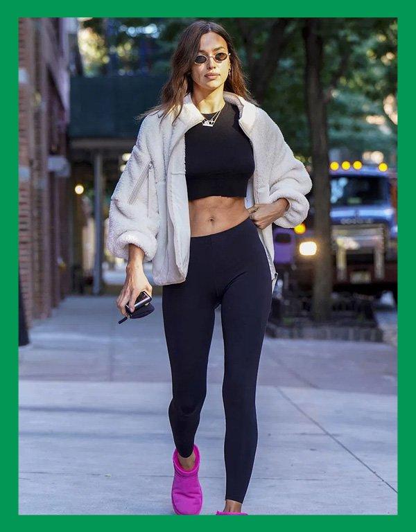 Irina Shayk - calça legging - calça confortável - verão - street style - https://stealthelook.com.br