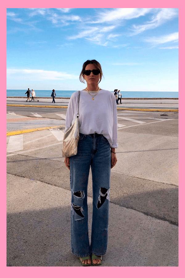 María Valdés - Calça jeans - Calça Jeans  - verão - street style  - https://stealthelook.com.br