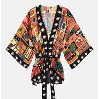kimono colagem animal